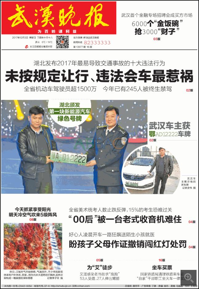 武汉市级报纸武汉晚报登报易